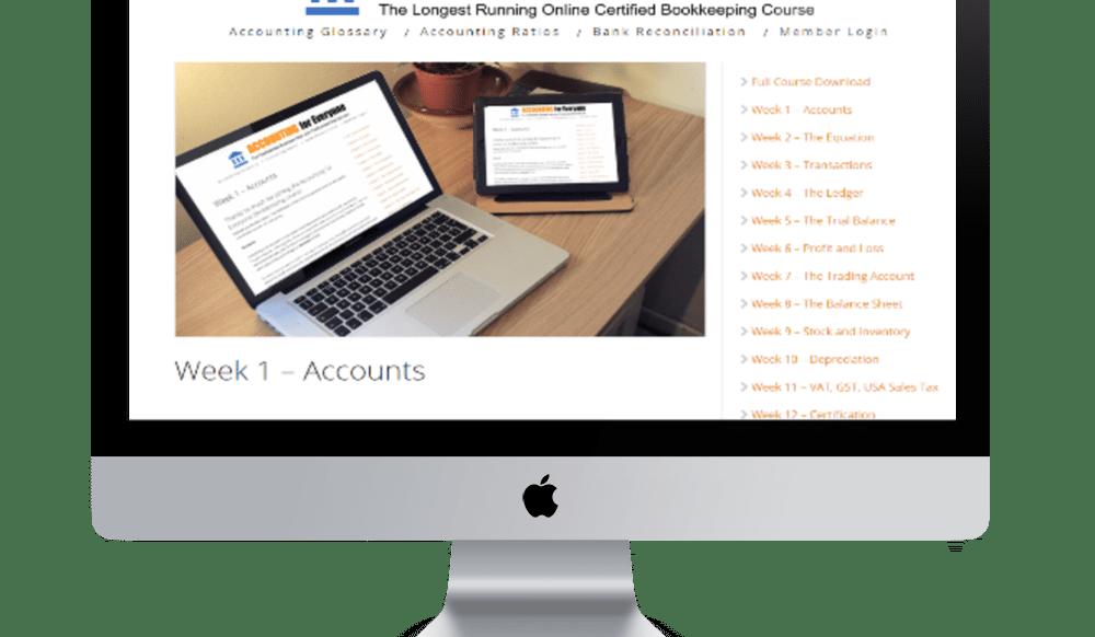 Accounting for Everyone Bookkeeping Course Week 1 Screenshot